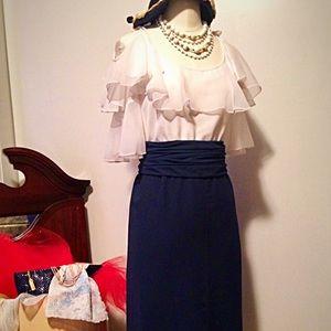 Dresses & Skirts - Vintage Frances Brewster ruffle dress